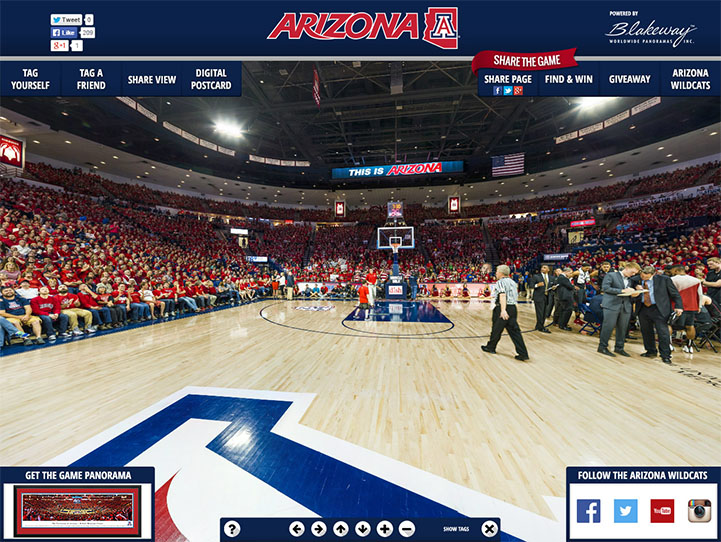Arizona Wildcats 360 Gigapixel Fan Photo