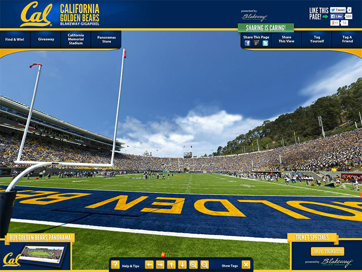 Cal Golden Bears 360 Gigapixel Fan Photo