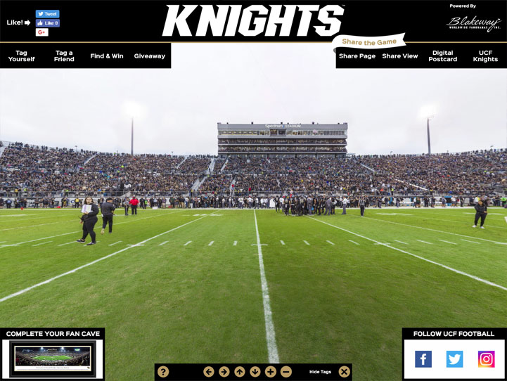 UCF Knights 360 Gigapixel Fan Photo