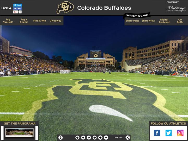Colorado Buffaloes 360 Gigapixel Fan Photo