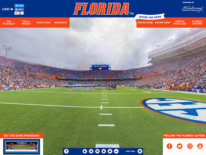 Florida Gators 360 Gigapixel Fan Photo