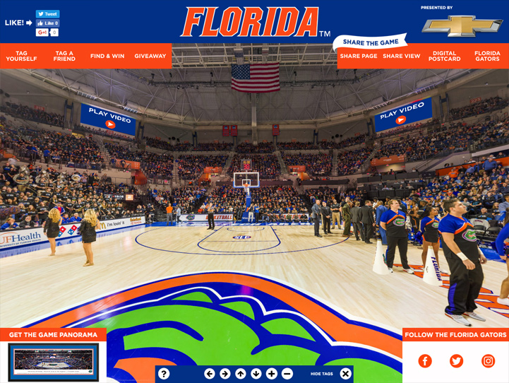 Florida Gators 360 Gigapixel Fan Photo