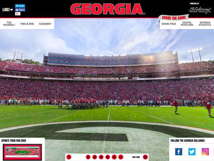 Georgia Bulldogs 360 Gigapixel Fan Photo