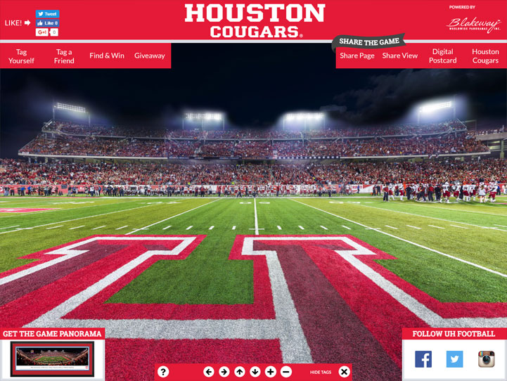 Houston Cougars 360 Gigapixel Fan Photo