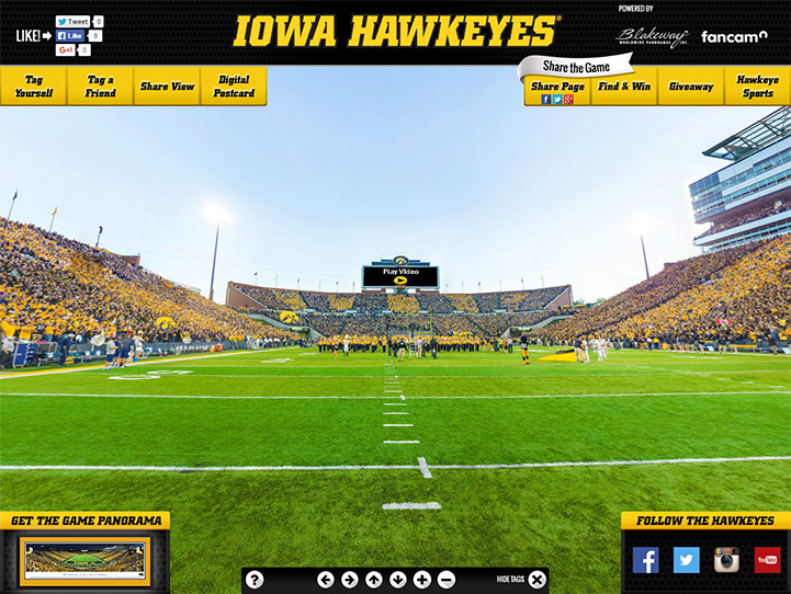 Iowa Hawkeyes 360 Gigapixel Fan Photo
