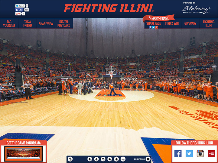 Illinois Fighting Illini 360 Gigapixel Fan Photo