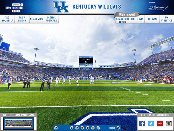 Kentucky Wildcats 360 Gigapixel Fan Photo