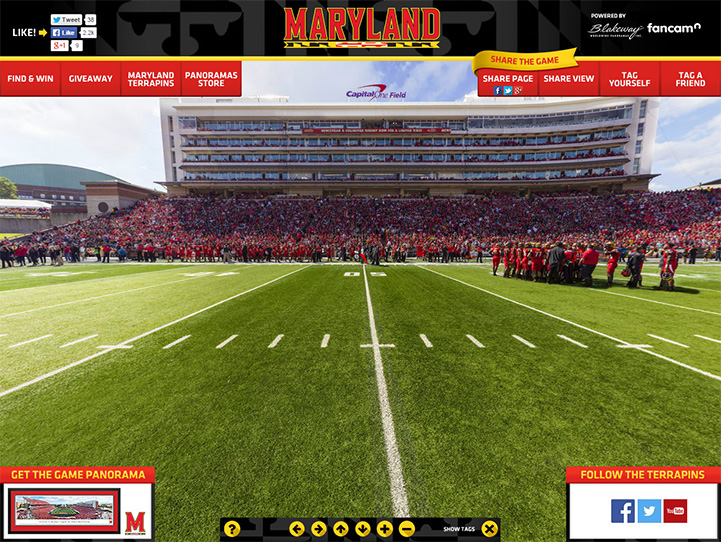 Maryland Terrapins 360 Gigapixel Fan Photo