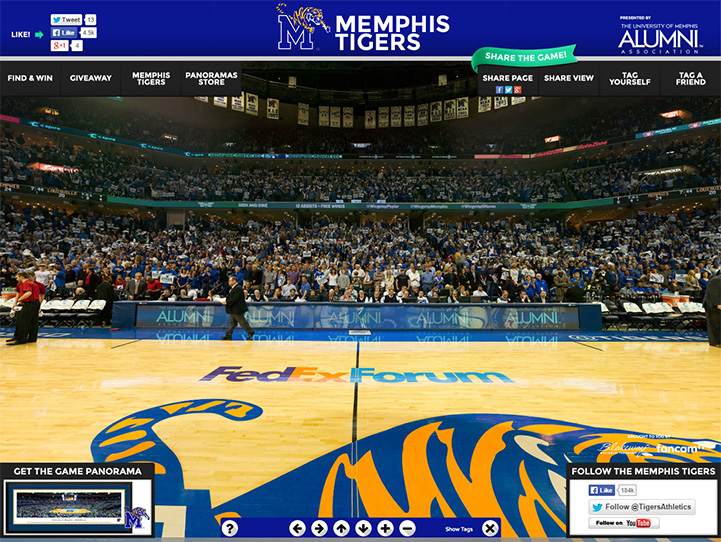 Memphis Tigers 360 Gigapixel Fan Photo
