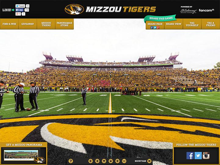 Missouri Tigers 360 Gigapixel Fan Photo