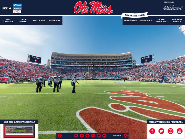 Ole Miss Rebels 360 Gigapixel Fan Photo