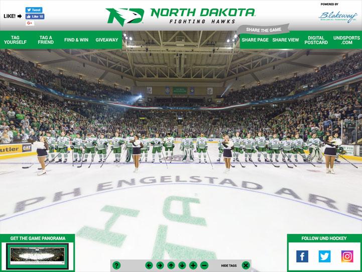 North Dakota Fighting Hawks 360 Gigapixel Fan Photo