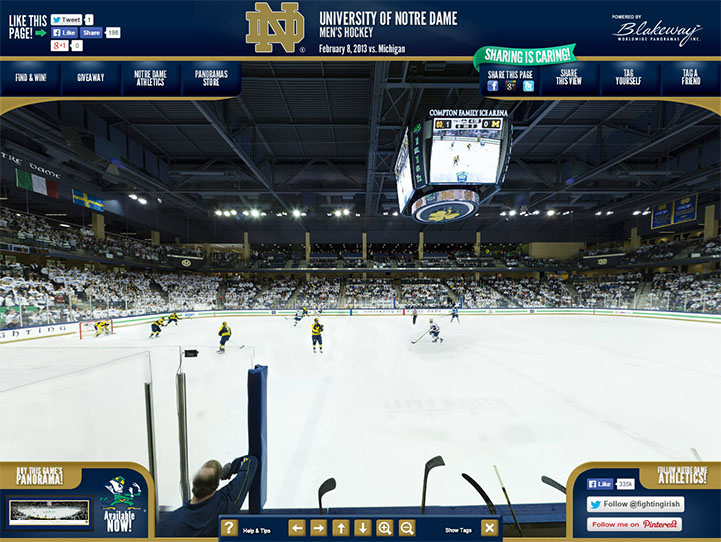 Notre Dame Fighting Irish 360 Gigapixel Fan Photo
