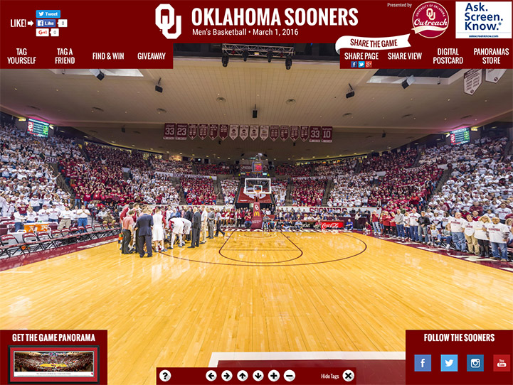 Oklahoma Sooners 360 Gigapixel Fan Photo