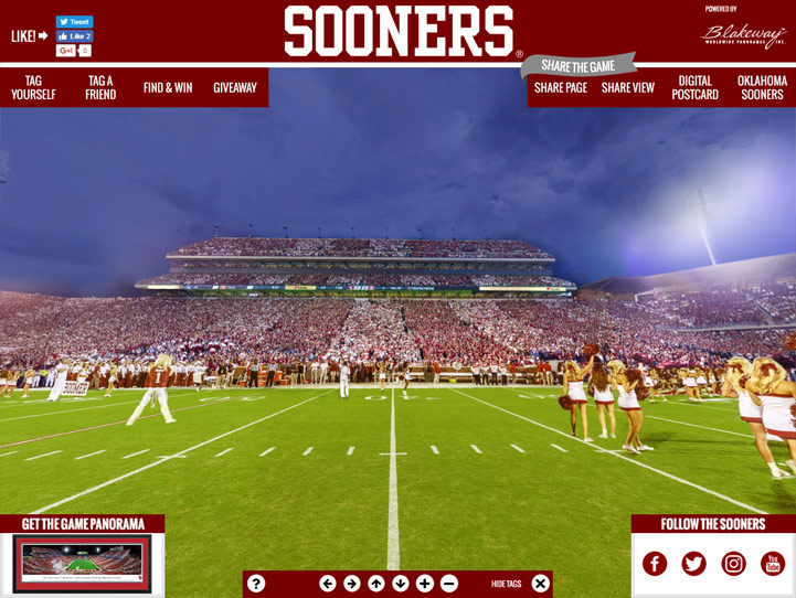 Oklahoma Sooners 360 Gigapixel Fan Photo