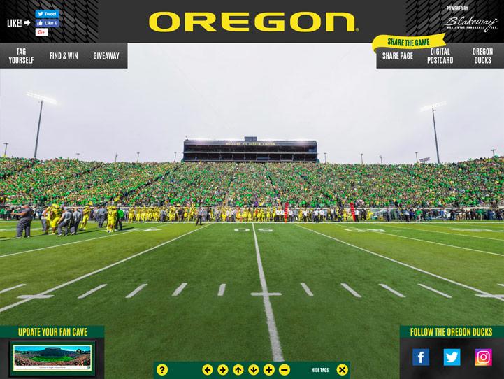Oregon Ducks 360 Gigapixel Fan Photo