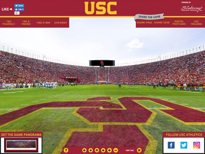 USC Trojans 360 Gigapixel Fan Photo