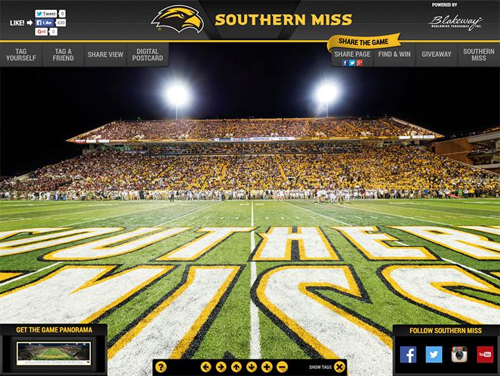 Southern Miss Golden Eagles 360 Gigapixel Fan Photo