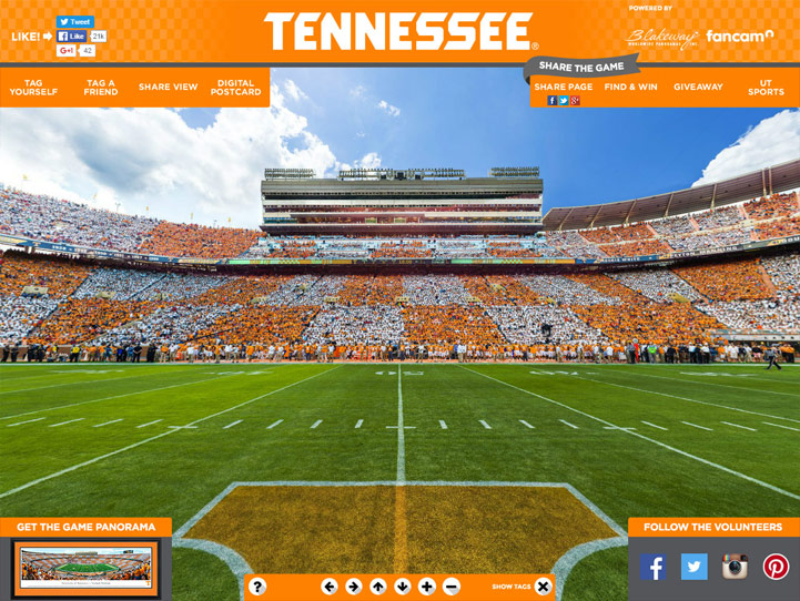 Tennessee Volunteers 360 Gigapixel Fan Photo