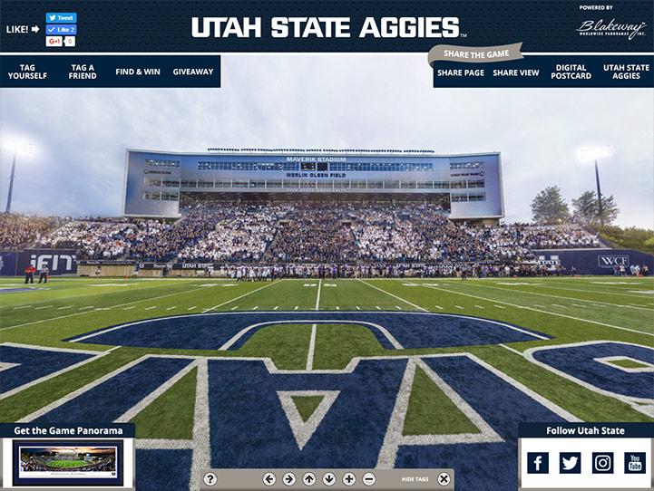 Utah State Aggies 360 Gigapixel Fan Photo
