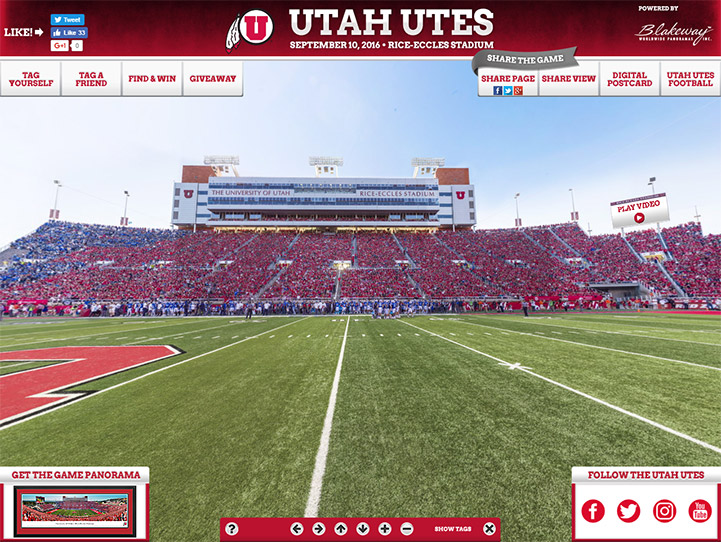 Utah Utes 360 Gigapixel Fan Photo