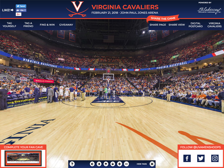 Virginia Cavaliers 360 Gigapixel Fan Photo