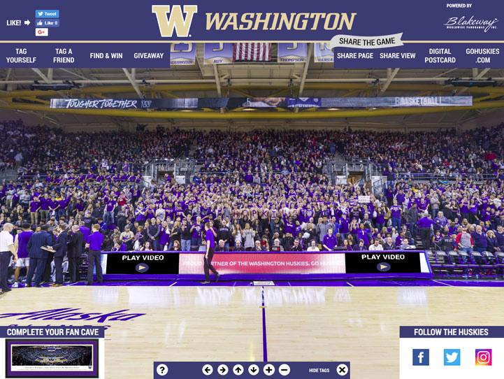 Washington Huskies 360 Gigapixel Fan Photo