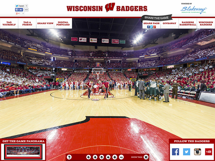 Wisconsin Badgers 360 Gigapixel Fan Photo