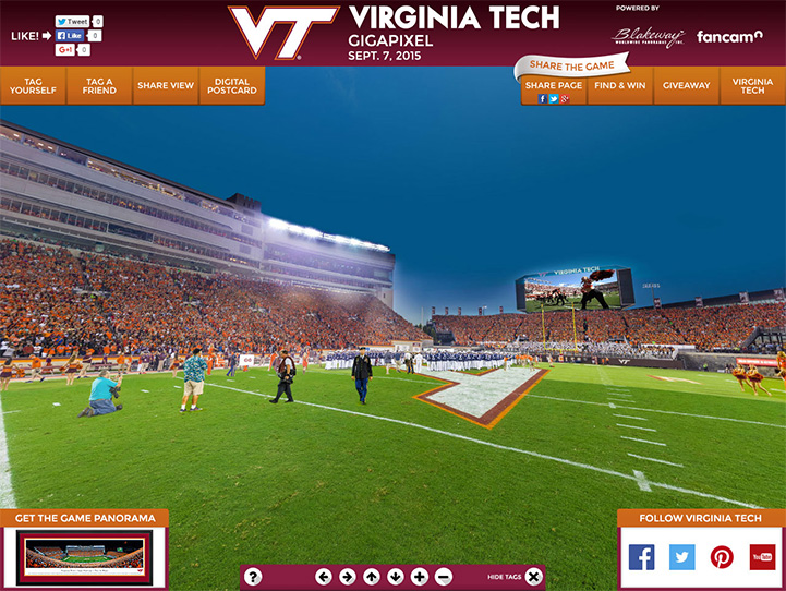 Virginia Tech Hokies 360 Gigapixel Fan Photo