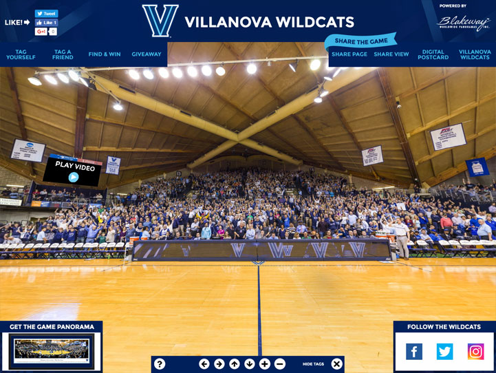 Villanova Wildcats 360 Gigapixel Fan Photo