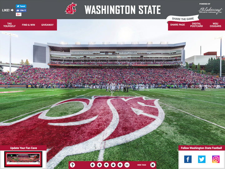 Washington State Cougars 360 Gigapixel Fan Photo