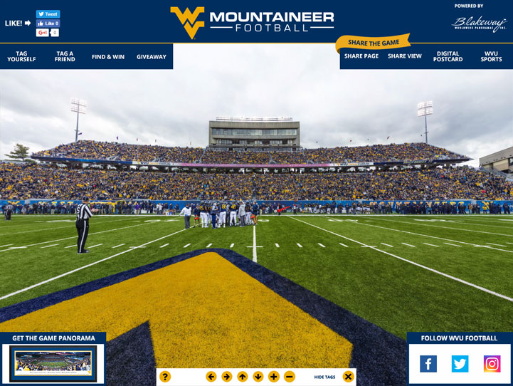 West Virginia Mountaineers 360 Gigapixel Fan Photo