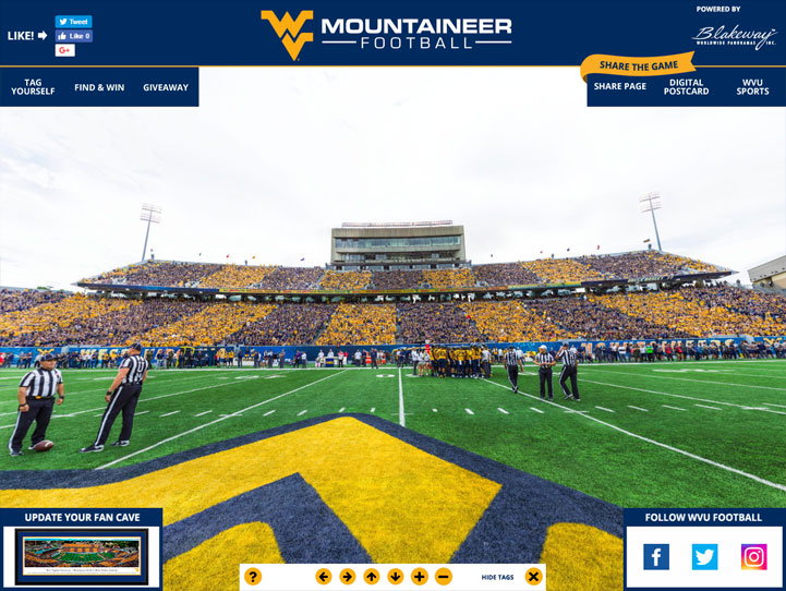 West Virginia Mountaineers 360 Gigapixel Fan Photo