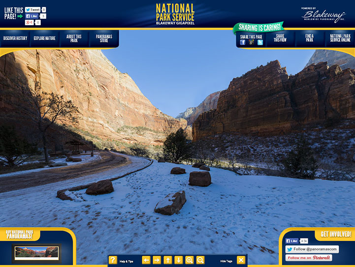 Zion National Park 360 Gigapixel Fan Photo