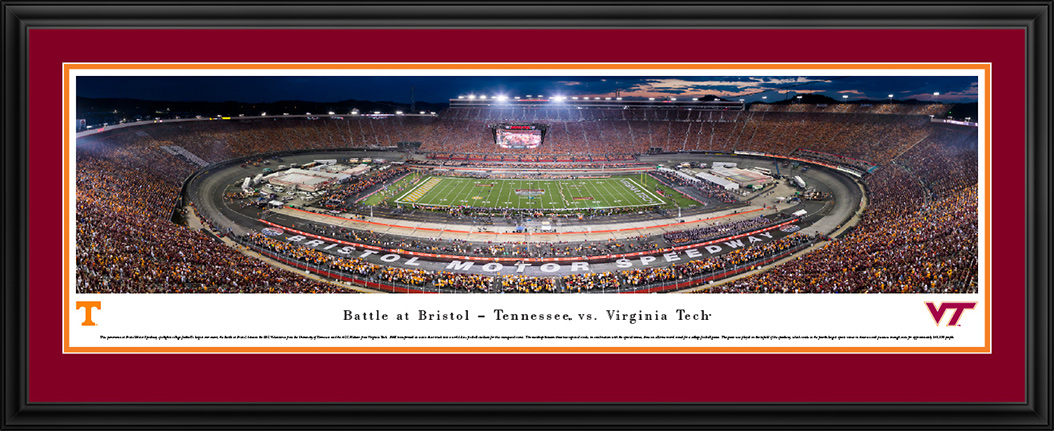 Battle at Bristol 2016 - Virginia Tech Deluxe Framed Panorama