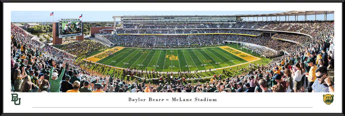Baylor Bears Football Panoramic Fan Cave Wall Decor