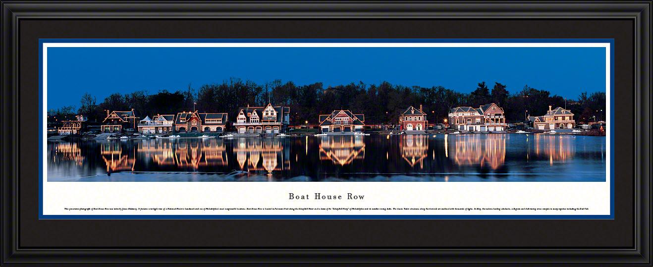 Boat House Row Classic Americana Panoramic Wall Decor
