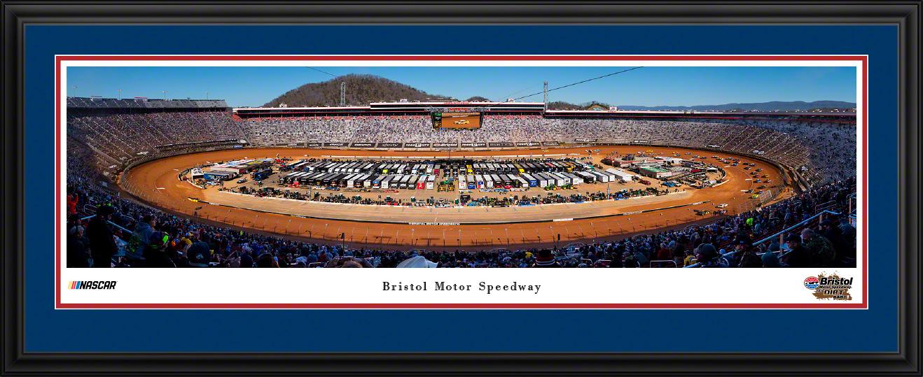 Bristol Motor Speedway NASCAR Aerial Fan Cave Panoramic Wall Art