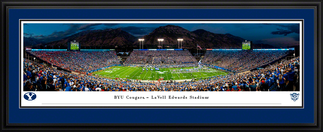 Brigham Young Cougars Panoramic Fan Cave Wall Decor