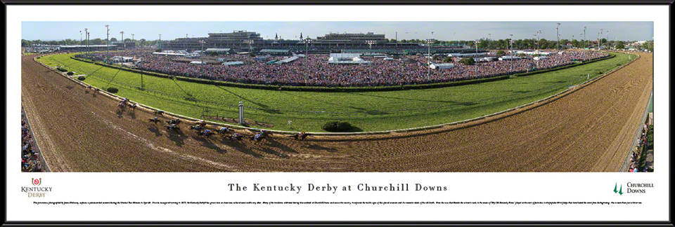 Kentucky Derby Standard Framed Panorama