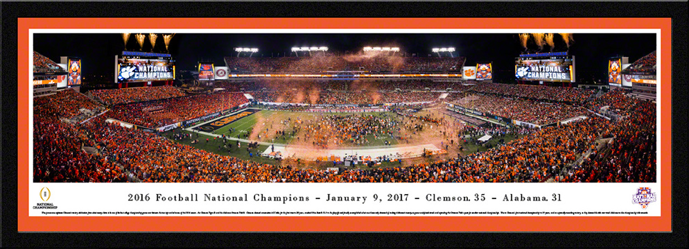 2017 CFP Championship Select Framed Panorama