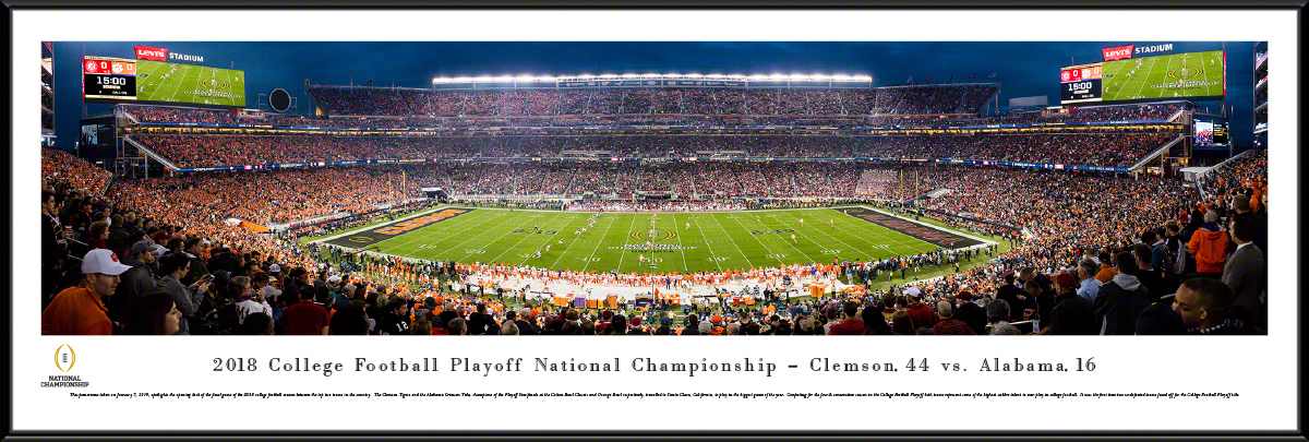 2019 College Football Playoff National Championship Framed Panorama