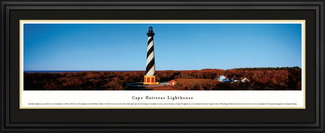 Cape Hatteras Lighthouse Deluxe Framed panorama