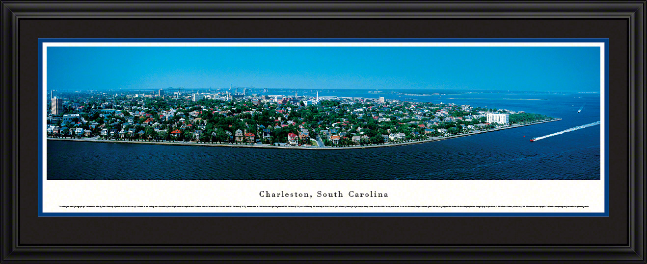 Charleston South Carolina City Skyline Panoramic Wall Decor
