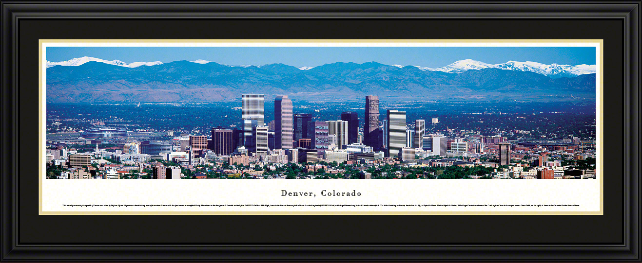 Denver, Colorado City Skyline Panoramic Wall Art
