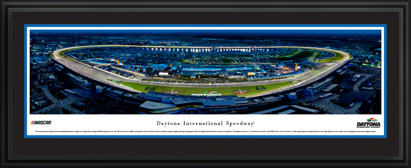 Daytona International Speedway Night Race Framed Panorama