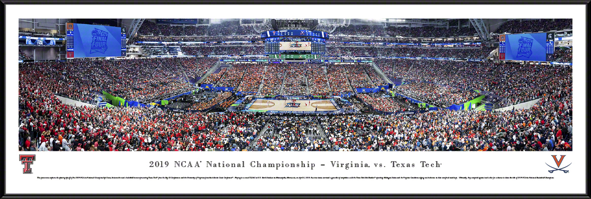 2019 College Basketball Championship Fan Cave DeStandardluxe Framed Panorama