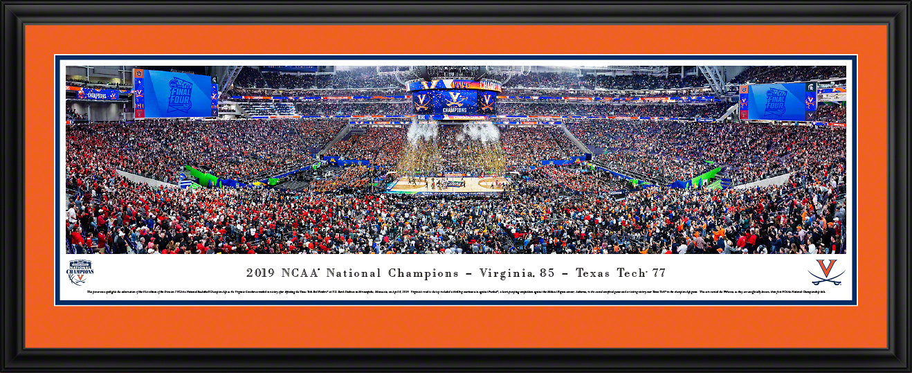 2019 NCAA Basketball Championship Panoramic Poster Decor - Virginia Cavaliers