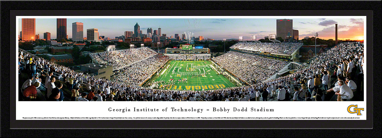 Georgia Tech Select Framed Panorama