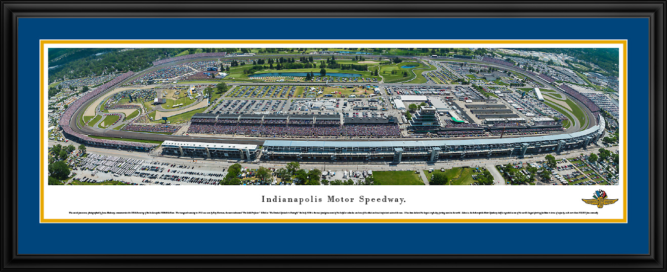 Indianapolis Motor Speedway Panoramic NASCAR Aerial Wall Decor